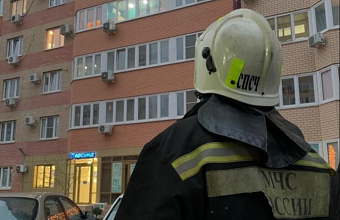 В Краснодаре из-за вспышки на плите произошел пожар в многоэтажке