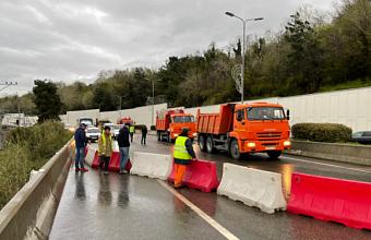 В Сочи завершили ремонт моста в районе пляжа «Красный штурм»