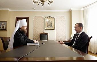 Губернатор Кубани встретился с новым митрополитом Екатеринодарским и Кубанским
