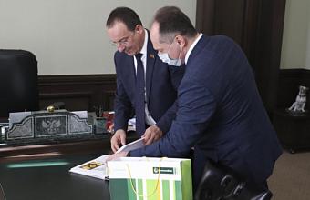 Председатель ЗСК обсудил деятельность краевого отделения «Россельхозбанка» с его новым директором