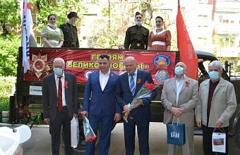 Как в Краснодарском крае поздравляли ветеранов в День Победы