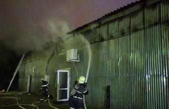 В Краснодаре произошел пожар на зоорынке на ул. Путевой