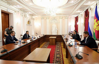 Вениамину Кондратьеву представили нового руководителя компании «Россети Кубань»