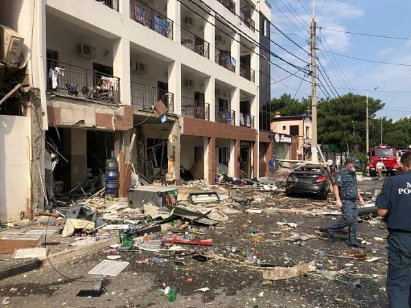 В гостинице Геленджика из-за взрыва газа погиб человек