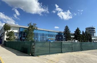 Первый этап капремонта международного терминала завершается в аэропорту Анапы