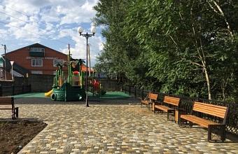 В Апшеронске благоустроили набережную площадью реки Туха