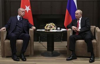 В Сочи прошли трехчасовые переговоры президентов России и Турции