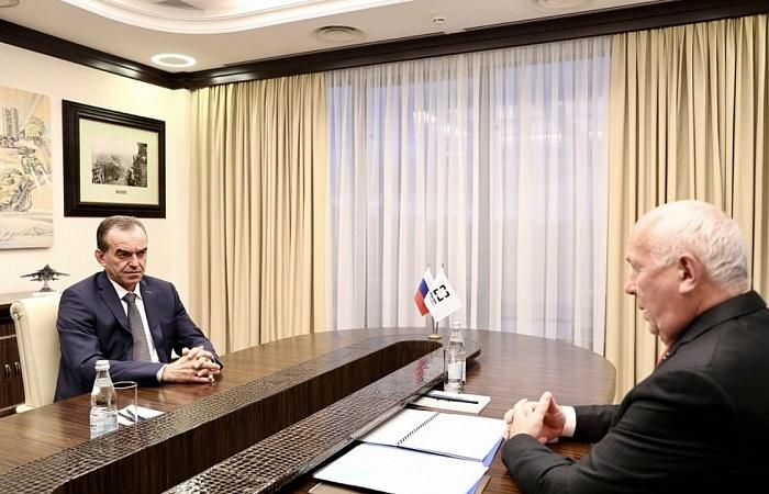 Губернатор Кубани Вениамин Кондратьев встретился с директором «Ростеха» Сергеем Чемезовым