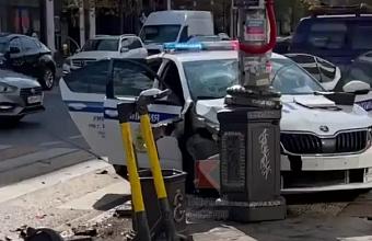В Краснодаре в аварии с автомобилем ДПС пострадал один человек