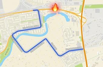 В Краснодаре из-за пожара в ТЦ по ул. Уральской временно ограничено движение